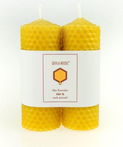świeczki z węzy pszczelej podwójne