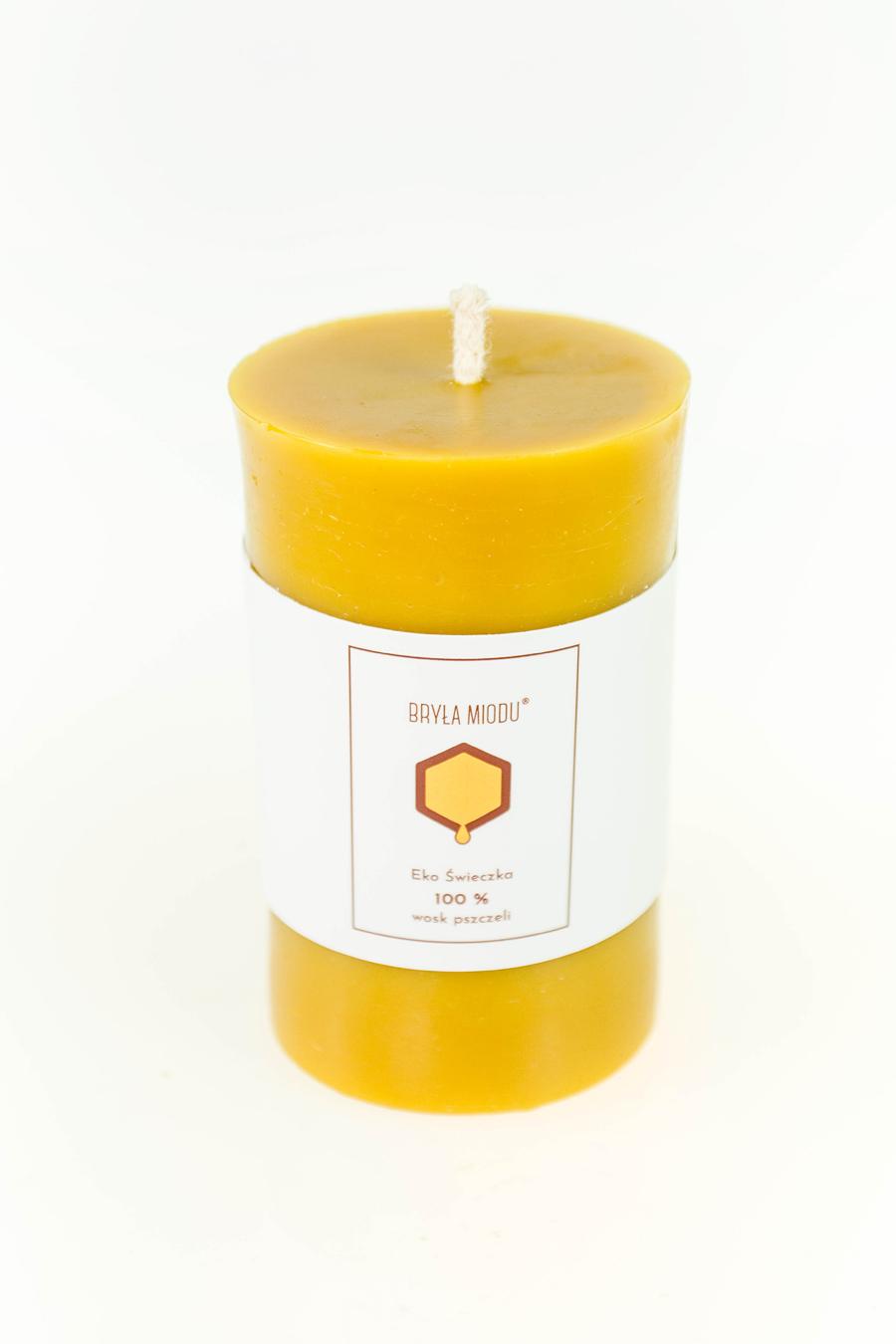 świeca z wosku pszczelego walec gładki 2