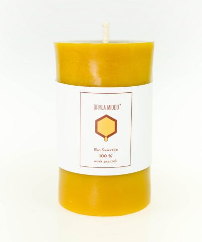 świeca z wosku pszczelego walec gładki