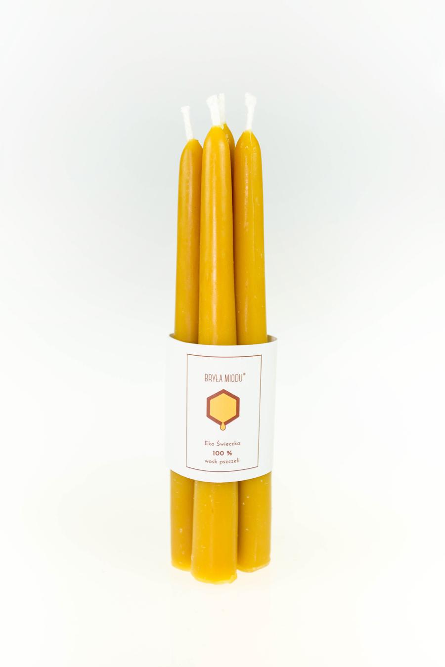 świeca stołowe z wosku pszczelego 2