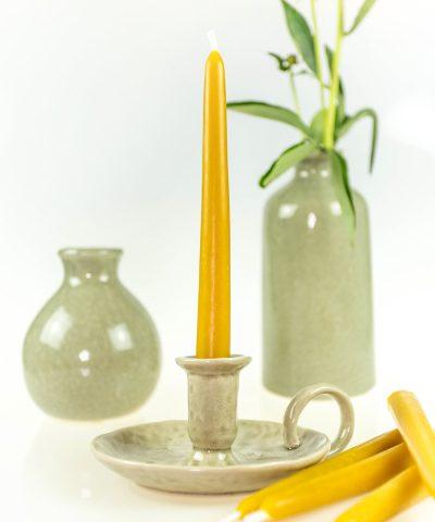świece stołowe z wosku pszczelego